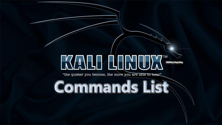 Kali linux commands list